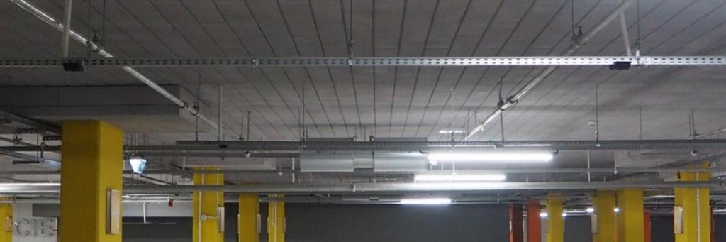 Огнезащита на потолке парковки