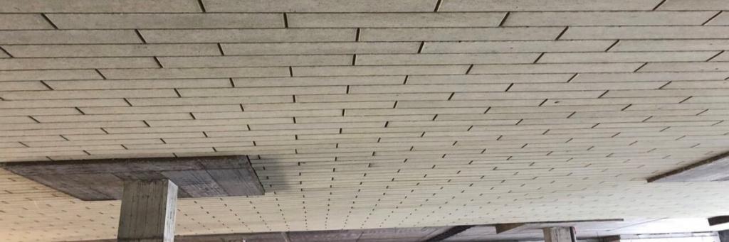 Установленная огнезащита потолка